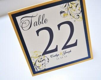 Wedding Table Numbers, Escort cards, Menu's