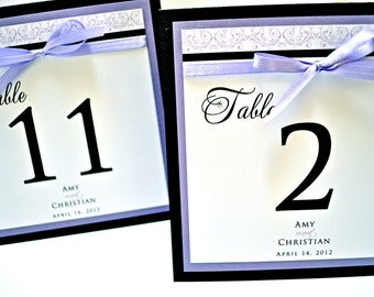 Wedding Table Numbers - Personalized Wedding Table Numbers - Elegant Table Numbers