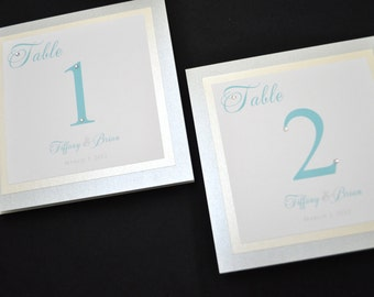 Wedding Table Numbers - Table Numbers for Wedding Reception - Destination Table Numbers - Destination Wedding