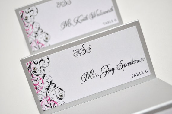 Place Cards For Weddings Seating Cards Wedding Reception