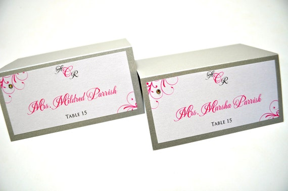 Wedding Escort Cards - Wedding Place Cards - Seating Cards for Wedding Reception - Elegant Place Cards