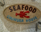 Wood Look Seafood Sign