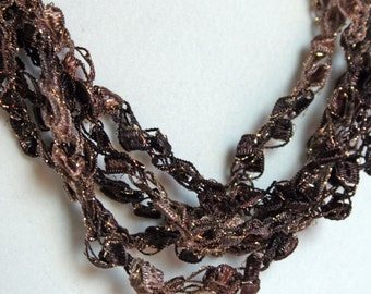 Root Beer   - Crocheted Necklace