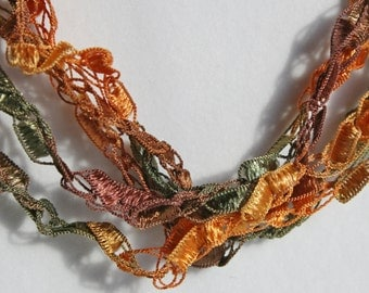 Autumn - Crocheted Necklace