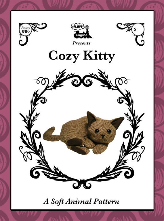 Cozy Kitty Pattern - Make your own plush cat