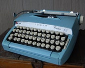 Vintage Sears Tower Citation 88 Typewriter in Light Dusty Blue
