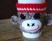 Hand Crocheted Sock Monke...