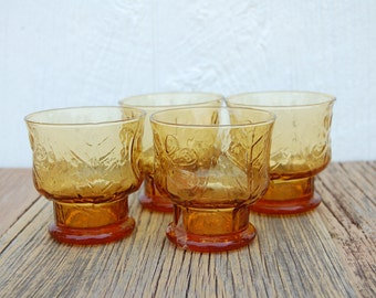 1970's Libby's Glassware Low Ball Glasses, set of 4
