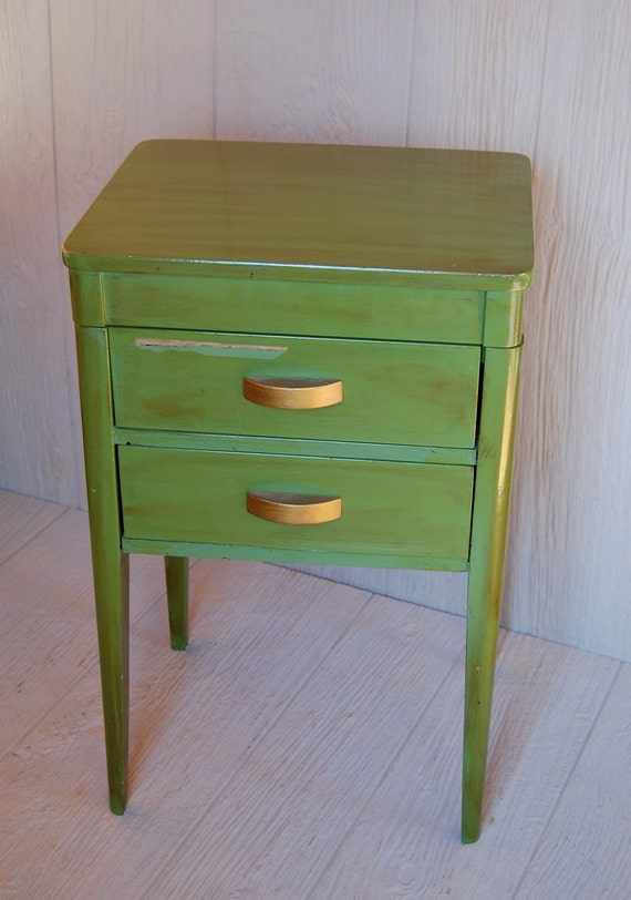 Vintage Adorable Sewing Craft Cabinet Storage / Side Table will Custom Paint