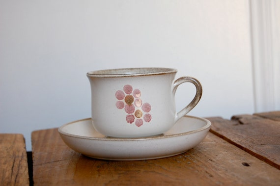 Vintage Denby Cup & Saucer in Gypsy Pattern, sold individually
