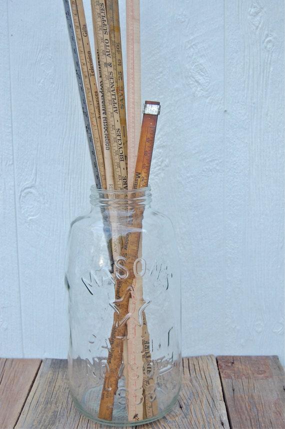 Vintage 5 Gallon Mason's Patent Nov. 30th 1858 Eagle & Star Clear Glass Ball Jar