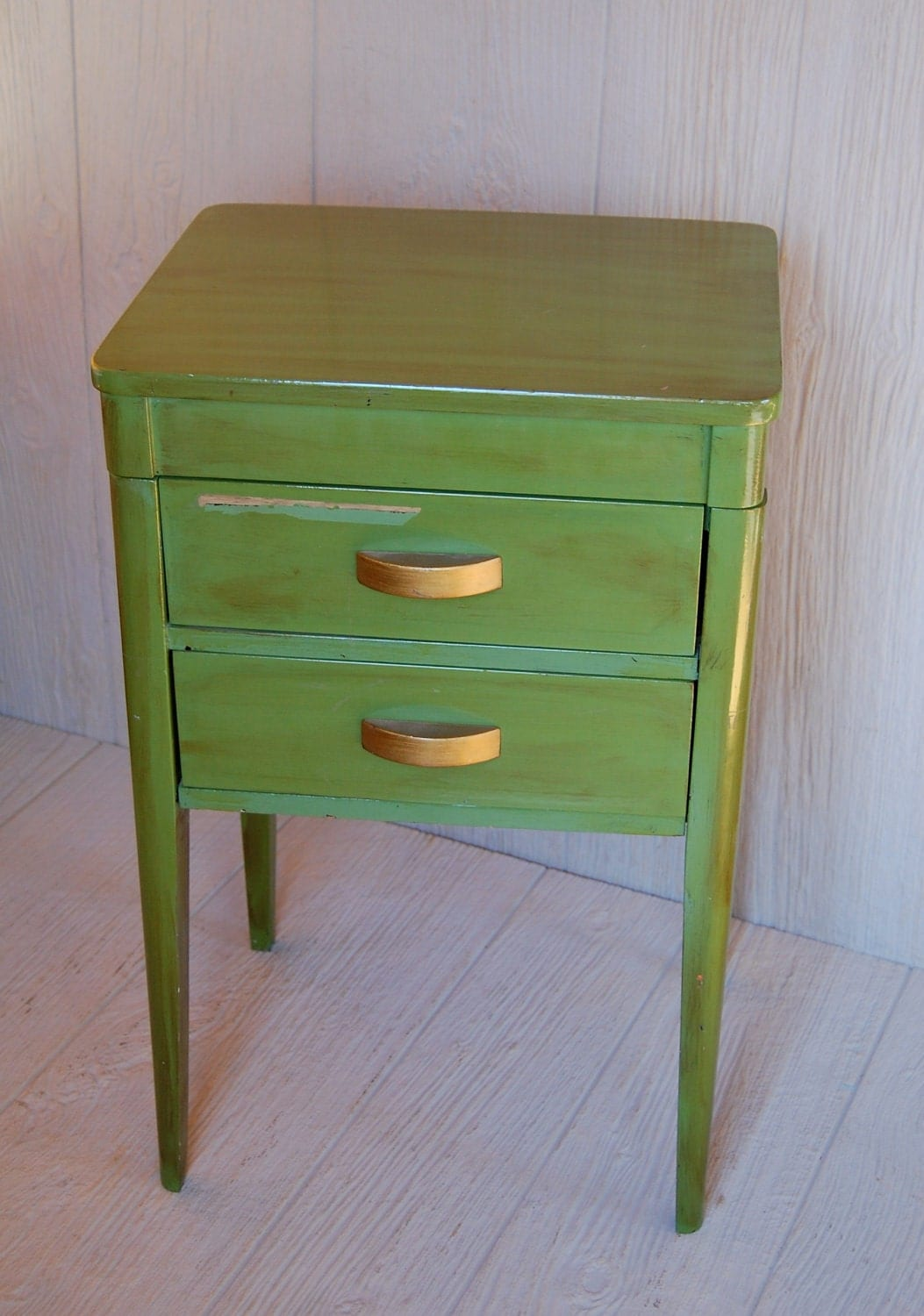 Vintage adorable sewing craft cabinet storage side table for Craft cupboard with table