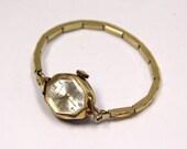 Art Deco Women's Waltham Wristwatch Watch 10K Gold Filled WORKS