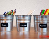 Chalkboard Labels - 14 Simple Rectangle Chalkboard Labels, Removable and Repositionable