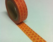 Washi Tape Japanese Masking Tape - Orange Flower