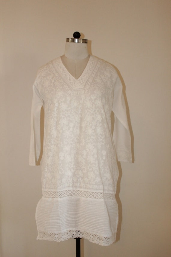 Summer cotton tunic
