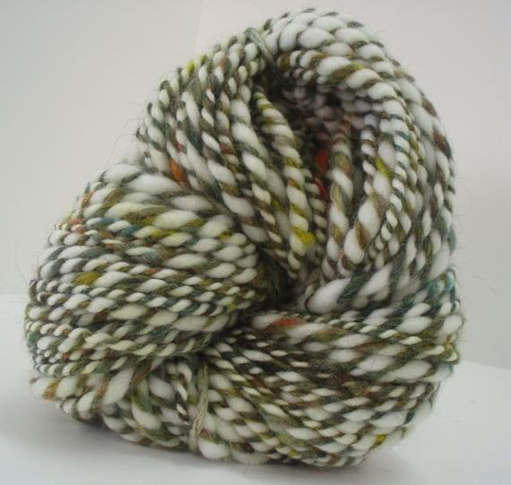 Handspun Yarn - Chunky Multi - 96 yds - Polwarth, Alpaca, Merino, Mohair and Silk