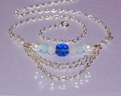 Blue and White Sea Breeze Necklace