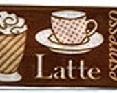 Reserved for Illuminated Unlimited - Coffee Shop Print Woven Ribbon