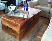 """Wood """"Shipping Crate"""" Coffee Table"""