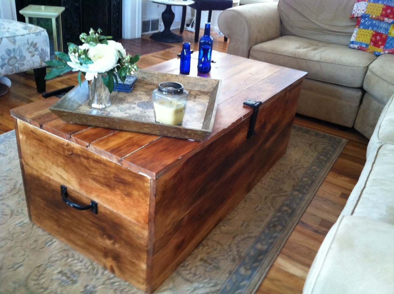 Items Similar To Wood Shipping Crate Coffee Table On Etsy