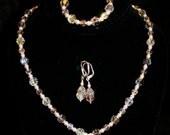 Swarovski Crystal Teardrop Bridal Necklace Set