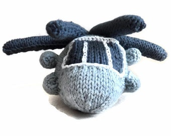 MADE TO ORDER: Hand Knit CH53 Helicopter Toy Model