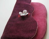 Clutch with Flower Catch - Raspberry, Pink, and Rose