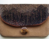 Clutch - Velveteen and Organic Cotton - Brown, Black, and Rust