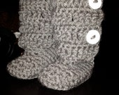 Baby hUGGS crochet booties