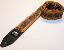 Guitar strap - Handmade - Two-sided Tribal - INCA - Southwestern - Native American