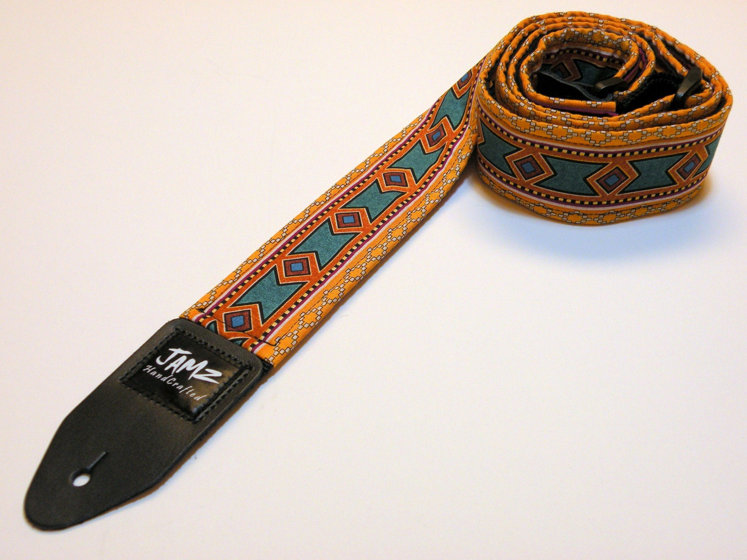 guitar strap handmade two sided tribal inca. Black Bedroom Furniture Sets. Home Design Ideas
