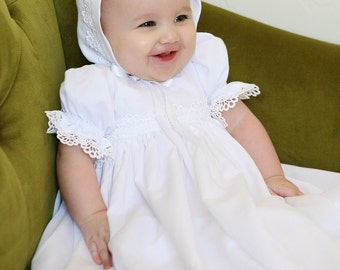 Lace and Cotton BONNET ONLY for Baptism / Blessing