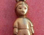 Vintage 14K Gold James Avery 3D BOY CHILD Charm
