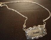Love Plaque Necklace