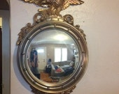Large Gorgeous Vintage Federal Eagle Convex Mirror