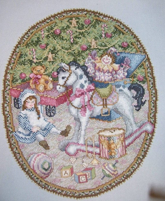 Reserved for DD MC  Under the Evergreen  Christmas cross stitch -completed-