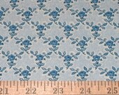 Covington Fabric Tiny Blue Rose Drapery 4 yards Free Shipping