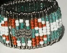Safety Pin Tribal Cuff Bracelet