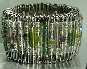 Mystic Opulence  Safety Pin Cuff bracelet