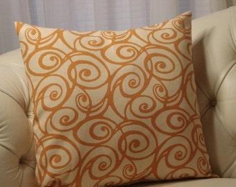 SALE - Terra Cotta Swirl Pillow Cover