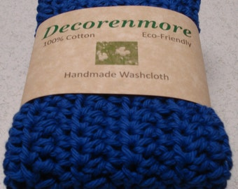Royal Blue Washcloths