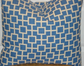 Pillow Cover - Blue and White