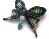 Macrame dragonfly hairclip perfect size for kids pick your colours