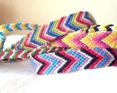 Custom Made Chevron & Candy Stripe Friendship Bracelets