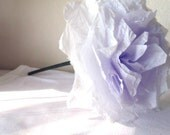 Floral Arrangement CUSTOM & Made to Order - Lavender paper flowers  coffee filter home decor wedding  anniversary  handmade  bouquet  white