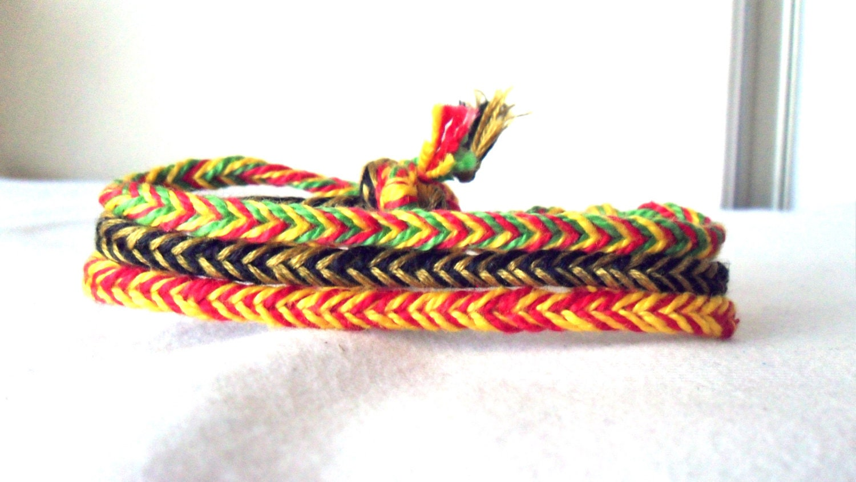 CUSTOM Friendship Bracelets Fishtail Braid Set of 3