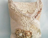 Luxe Victorian Lace and Flowers Wedding Evening Purse Handbag OOAK Boho Couture