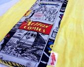 Superman Comics Yellow Burp Cloth