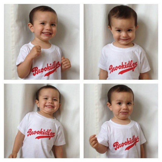 FREE SHIPPING 4T White Organic Cotton Red Brookidlyn T-Shirt